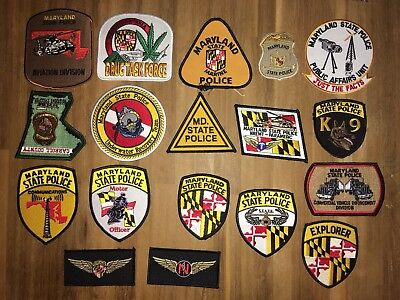 Maryland State Police Lot 18 patches