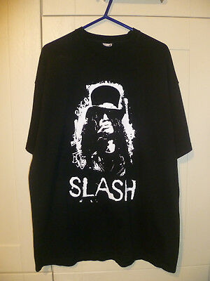 "Slash (Guns N' Roses) - Vintage ""slash"" Black T-Shirt (Xxl)"