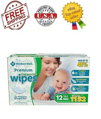 Member's Mark Premium Fragrance Free Baby Wipes (1152 ct.)
