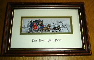 Cashs Framed Pure Silk Woven Limited Edition Picture The Good Old Days No 143
