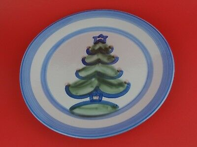 M A HADLEY Large 11 Inch Christmas Tree Plate