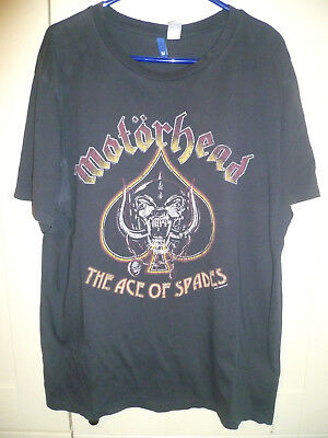"Motorhead - 2017 Vintage Style ""the Ace Of Spades"" Dark Grey T-Shirt (M)"