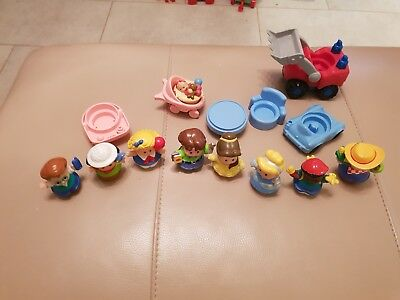 fisher price little people bundle figures vehicles and some furniture