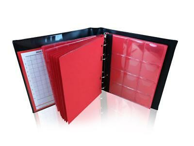 Coin Album SCHULZ Collector Coins Folder Binder Holder Book £5/Crown Blue 120L