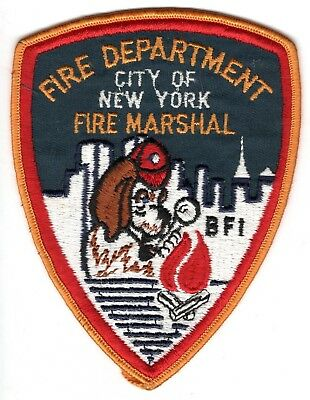 Fire Department City of New York Fire Marshal Patch