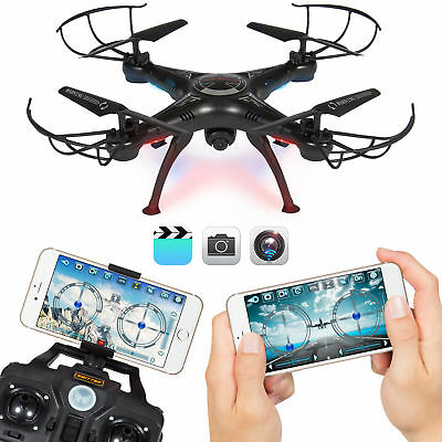 BCP 4-Channel 2.4G 6-Axis Gyro RC Quadcopter Drone w/ 2MP Wifi Camera - Black