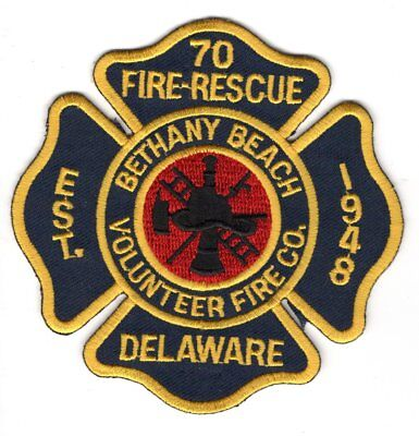 Bethany Beach Fire Company Station 70 Patch Delaware