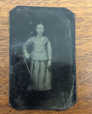 Old As Is Little Girl Vintage Victorian Tintype Picture