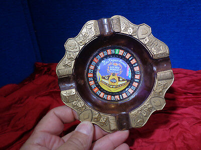 Vintage Las Vegas Advertising Ash Tray **Golden Nugget Roulette Wheel**