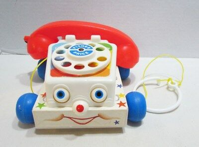 Fisher Price 1985 Chatter Telephone Pull Toy Still Works! Classic Toy Eyes Move