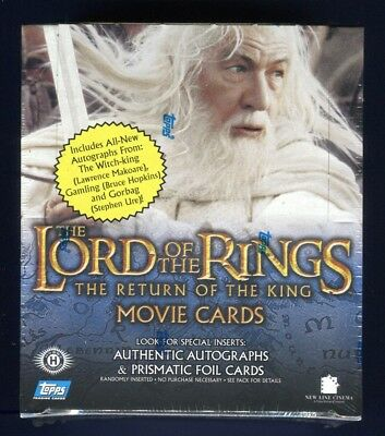 2003 Topps LOTR Lord Of The Rings Return Of The King 1st Edition Hobby Box