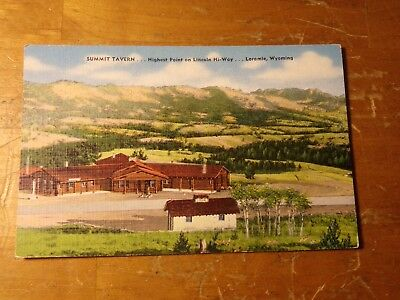 Vintage Postcard Summit Tavern, Highest Point On The Lincoln Highway, Wyoming