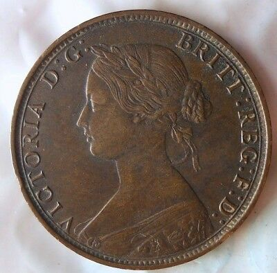 1862 GREAT BRITAIN 1/2 PENNY - Rare Date - Great Color High Value Coin - Lot 114