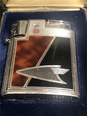 Vintage RONSON Varaflame Lideguard Butane Lighter in Original Box