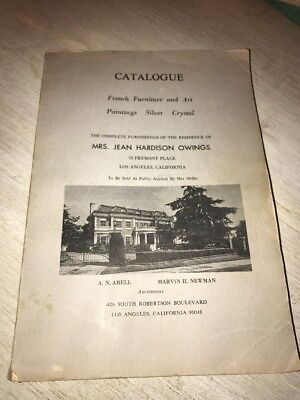 Jean Hardison Owings Abell's Catalogue French Furniture Art Paintings Book 1969