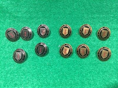 Lot of 11 1970's Vintage US Army 1st Infantry Division Metal Pins