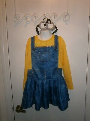 Halloween Costume Child Minions Dress & Goggles Size Medium Rubies