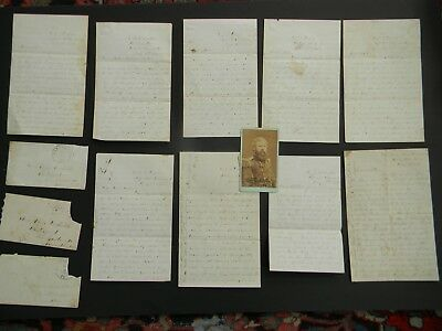 9 CIVIL WAR LETTERS & CDV PHOTOGRAPH of NAVAL OFFICER HENRY BECKWITH USS YANTICK