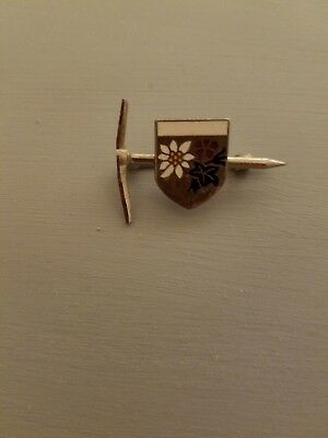 Vintage Tyrolean Pick and Flower Hat Pin