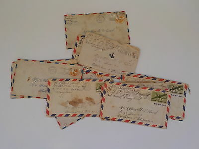 12 WWII Letters Soldier Military Army Madison Wisconsin Lot WW II WW2