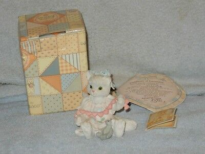 Enesco Calico Kittens 1992 A Good Friend Warms the Heart Figurine in Box Papers