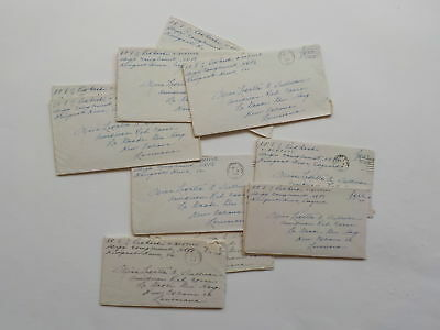 14 WWII Letters 326th Glider Infantry Red Cross New Orleans Louisiana Lot WW2