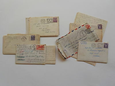 10 WWII Letters 35th Field Artillery Camp Shelby Mississippi Army Lot VTG WW2