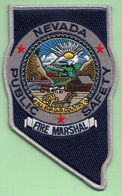 J3 * Department Of Public Safety Hp Nevada State Shape Police Fire Marshal Patch