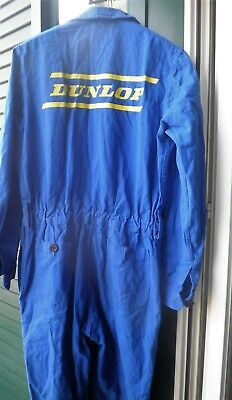 1980 Tuta Officina Dunlop Pneumatici 52 Wheel Work Suit Garage Vintage Workshop