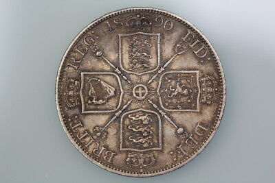 Gb Victoria Double-Florin Coin 1890 S3923 Extremely Fine