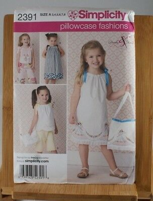 Simplicity Sewing Pattern 2171 Girl S Dress Pants Bag Top 3 8