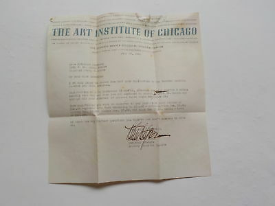 WWII Letter 1941 Marine Wife The Art Institute Of Chicago WW2 USMC Stationary WW
