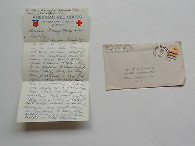 "WWII Letter 1945 Strombach Germany 76th Division ""Onaway"" German WW2"