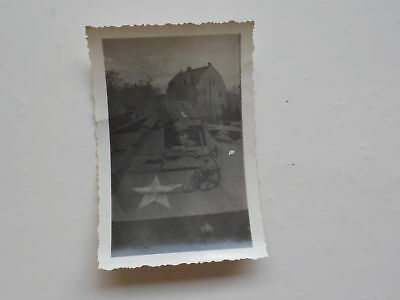 WWII Photo Soldier In Military Vehicle WW 76th Infantry Division Photograph WW2