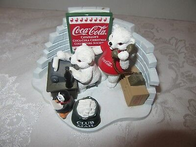 Coca Cola Heritage Collection Society Member Polar Bear Club 1999 Issue Figure