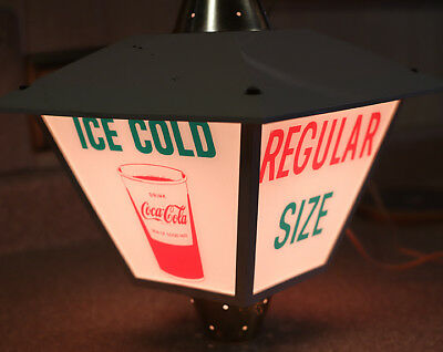 """1950s 12""""  COCA COLA LANTERN  Lighted Cup BIG KING SIZE  Sign"""
