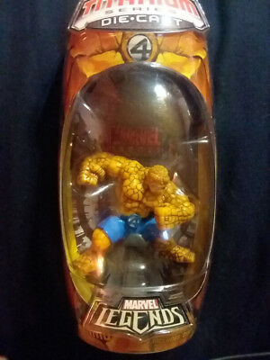 MARVEL LEGENDS The THING Action Figure NEAR MINT Titanium Series Hasbro