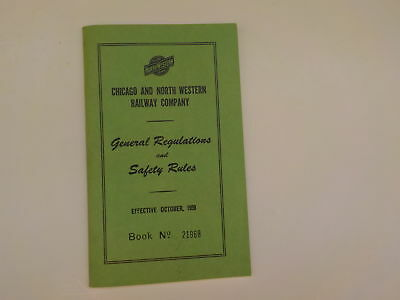 Booklet 1959 Chicago & Northwestern Railway Co. Safety Rules Book