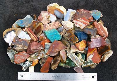 10 lbs TUMBLE MIX rough - great assortment of agate and jasper!!!