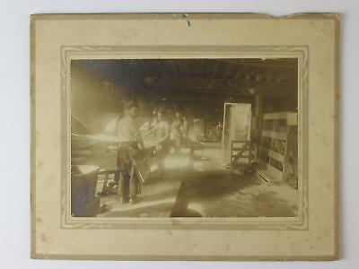 1900s OCCUPATIONAL GELATINE SILVER PHOTOGRAPH~INTERIOR VIEW FEED MILL~