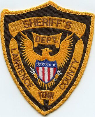 old vintage LAWRENCE COUNTY TENNESSEE TN SHERIFF POLICE PATCH
