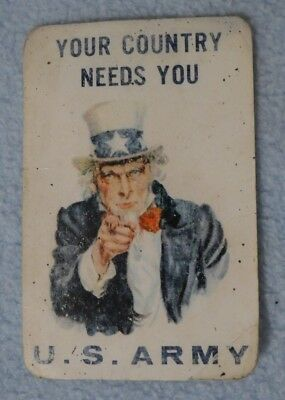 Your Country Needs You U.S. Army recruiting card w/ calendar and ruler 1967