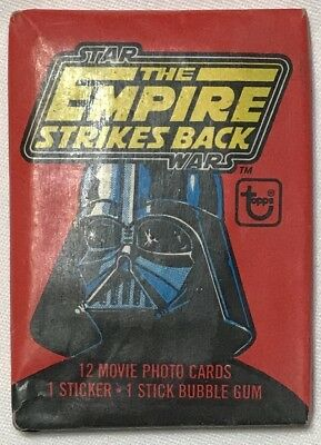Topps 1980 STAR WARS Empire Strikes Back Unopened Wax Pack Sealed w/ Bubble Gum