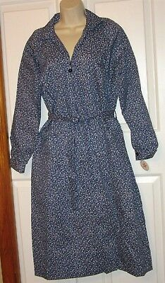Vtg NWT Carolina Maid Housedress 50's Style Dress size 12 1/2 belt blue floral