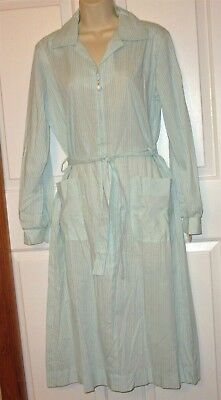 Vtg NWT Carolina Maid Housedress 50's Style Dress size 14 zipper belt stripe