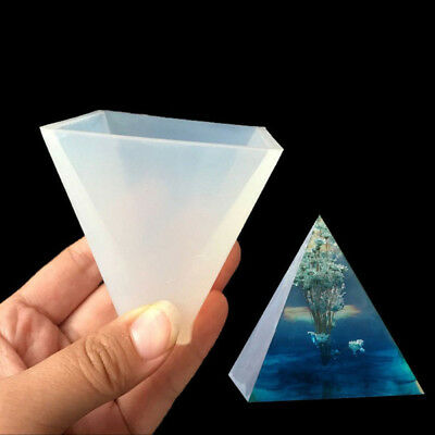 DIY Pyramid Silicone Mold Resin Jewelry Making Mould Epoxy Pendant Tool NEW