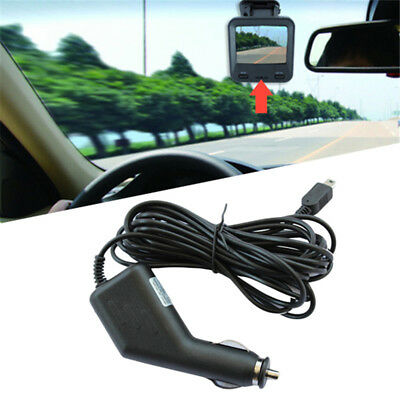 Mini 5P USB Car Power Charger Adapter Cable Cord For GPS Car Dash Cam Camera DVR