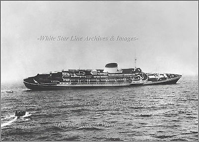 Photo: Sinking SS Andrea Doria: View From The Ile De France, July 26, 1956