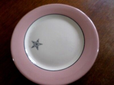 Vintage Eastern Star 1930 Buffalo China Rouge Lamelle~6 Luncheon /DessertPlates