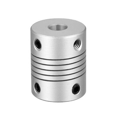 6mm to 6mm Shaft Coupling Flexible Coupler Motor Connector Joint L25xD19 Silver